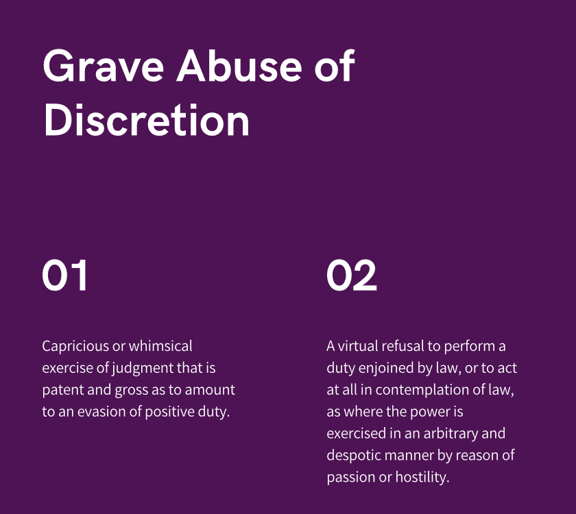 grave abuse of discretion