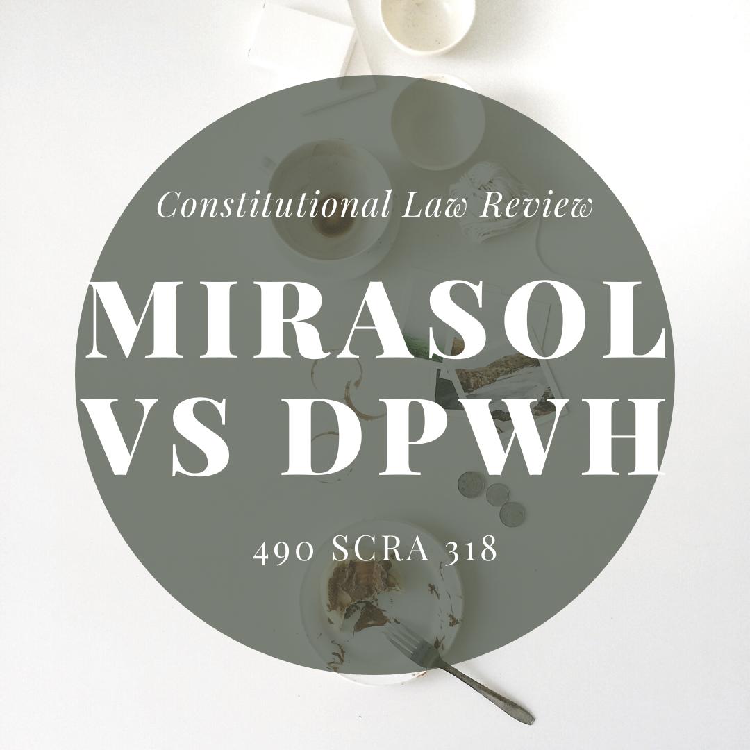 Mirasol vs DPWH