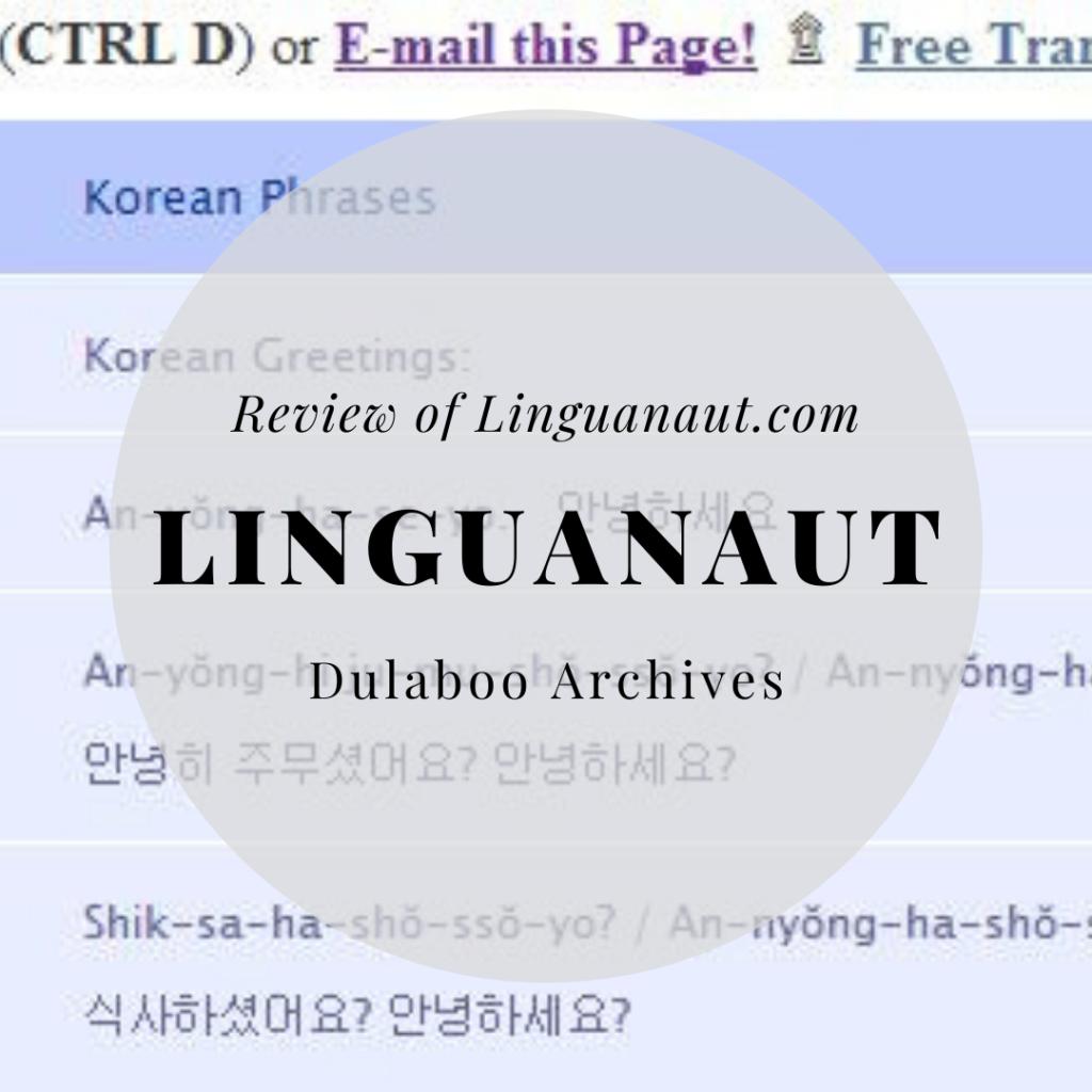 Linguanaut: Review of Linguanaut.com