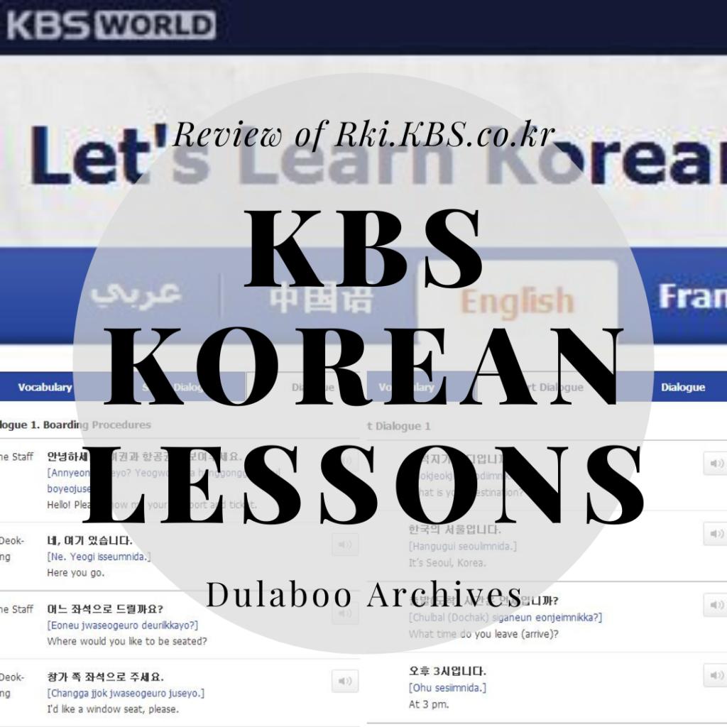 KBS Korean Lessons: Review of KBS Korean Lessons