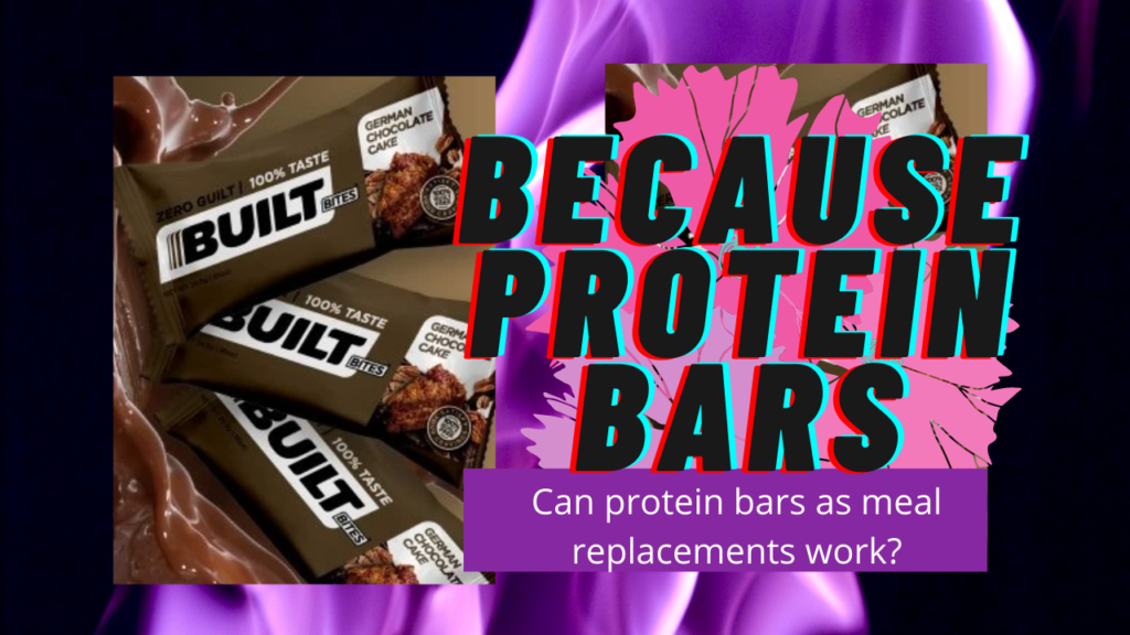 protein bar as meal replacement